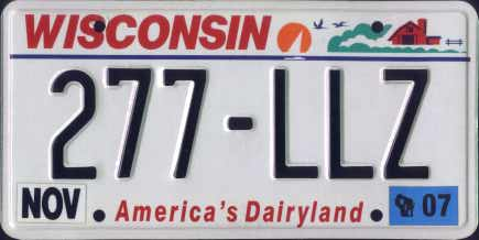 Wisconsin License Plate Clipart.