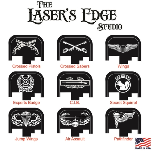 S&W M&P Back Plate Military Badge Patterns.