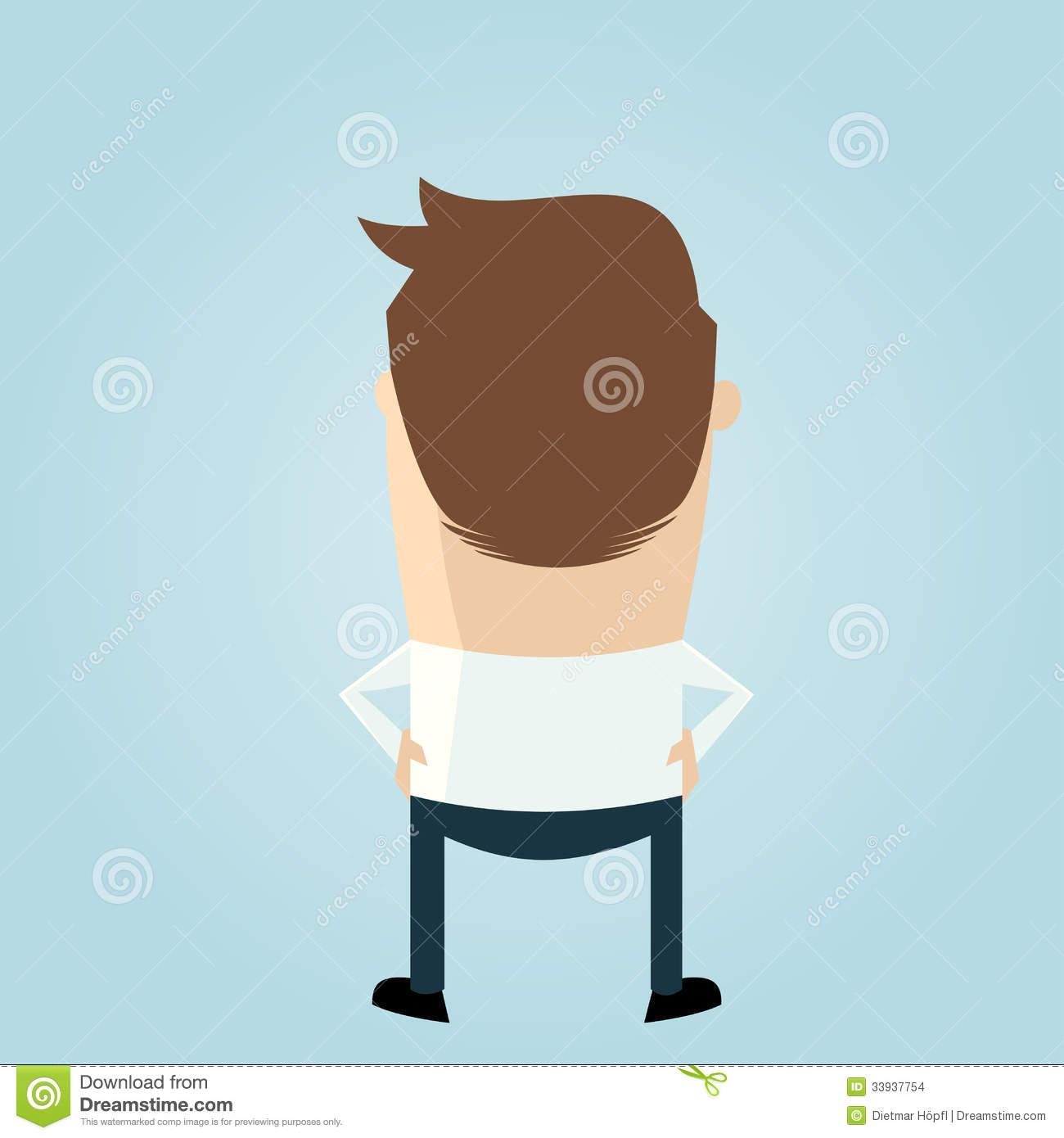 Cartoon Man Backside Stock Images.