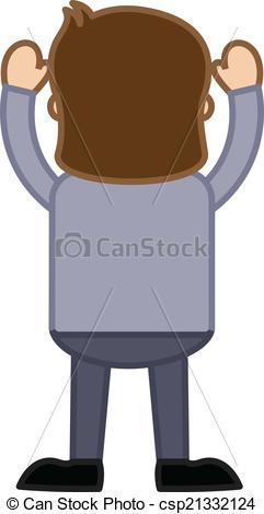 Vector Illustration of Man Standing.