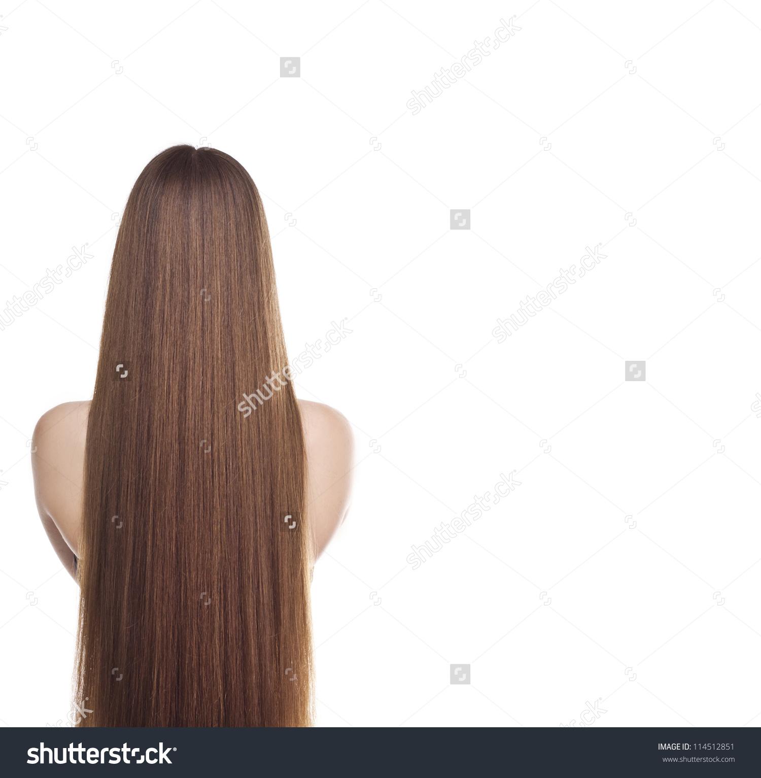 Portrait Lovely Woman Long Straight Hair Stock Photo 114512851.