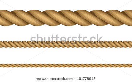 Straight Rope Clipart.