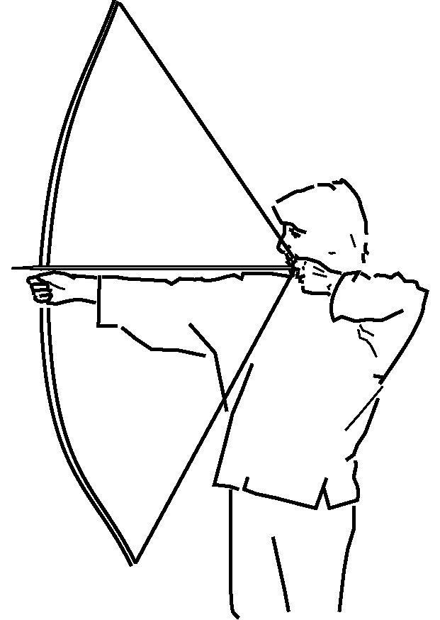 Straight archery arrow clipart.