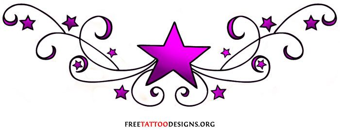 Lower Back Tattoo Designs for Women stars.
