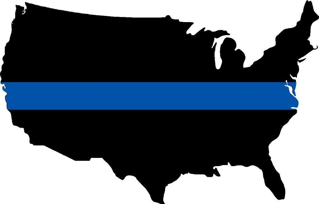 America Thin Blue Line Back The Blue Decal.
