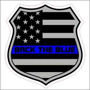 Details about Back The Blue Thin Blue Line Custom Printed Vinyl Decal /  Sticker.