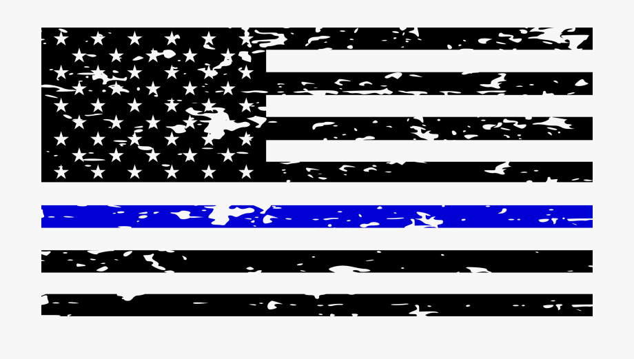 I Back The Blue American Flag Distressed Decal.