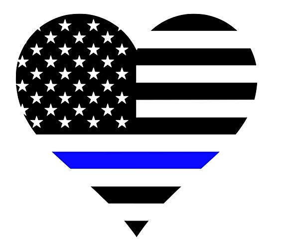 Amazon.com: Heart Back the Blue Flag Car Decal: Handmade.