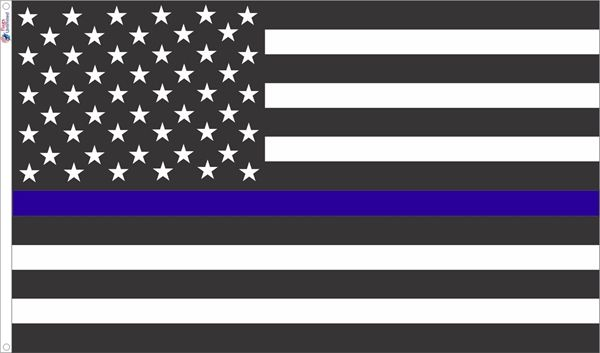 Thin Blue Line USA Flag.