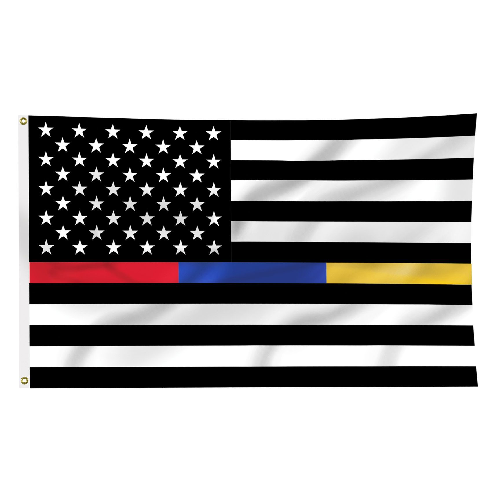 Thin Blue Line Flags.