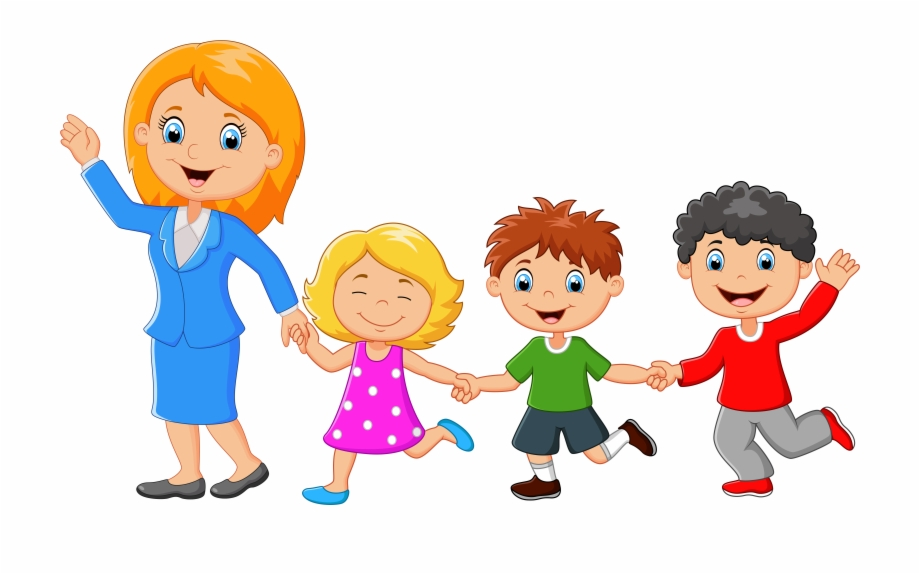 Families Clipart Back Cartoon Single Parent Family.