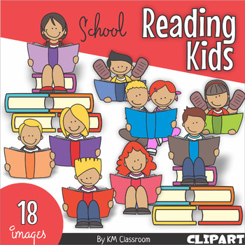 Reading Kids Back to School ClipArt.
