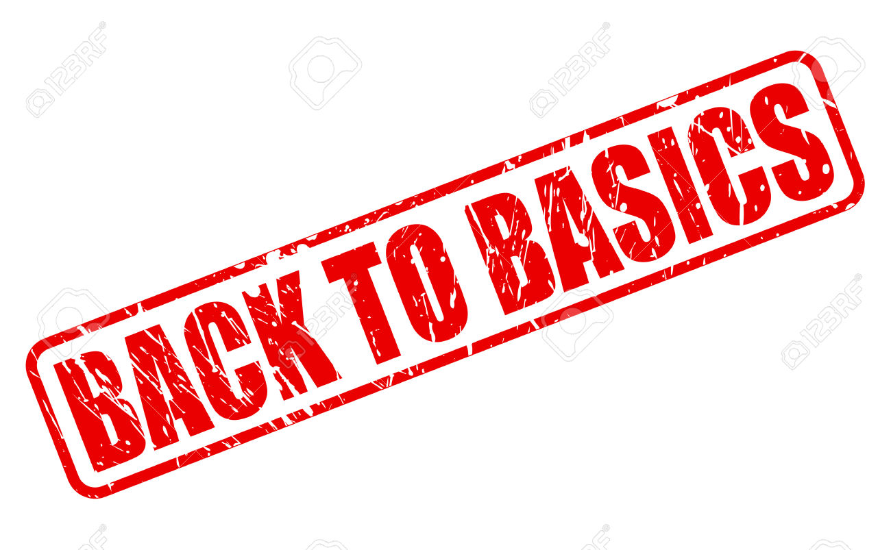 Back To Basics Red Stamp Text On White Stock Photo, Picture And.