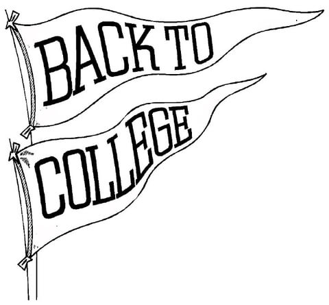 Back to College coloring page.