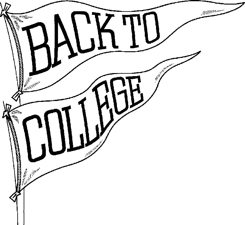 Back to College English Class Clipart.