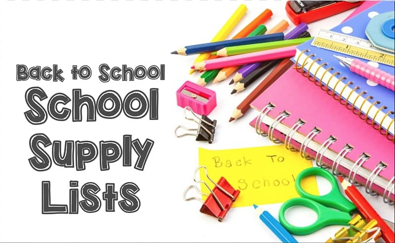 Back to school school supply lists, School district Middle.