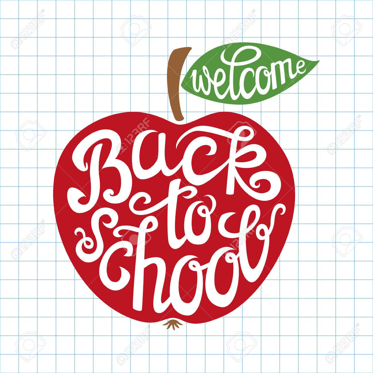 Welcome back to school hand.