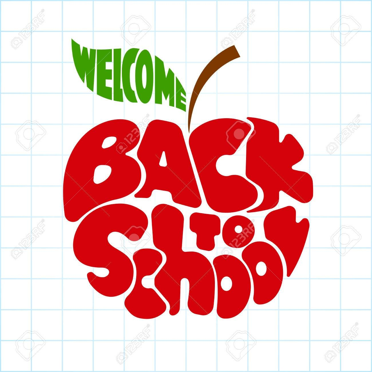At Back To School Apple Clipart 62769488 Lettering Inscribed In The.