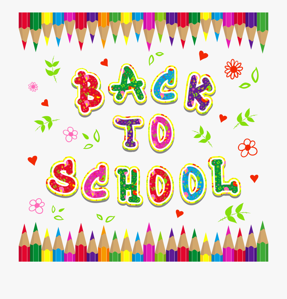 Back To School Colorful Clipart Picture.
