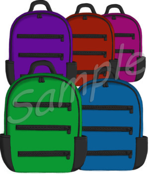 Back To School Backpack Clip Art.
