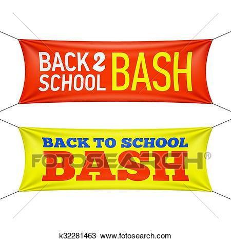 Back to School Bash Clipart.