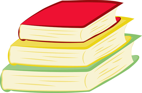 Back To School Books Clipart.