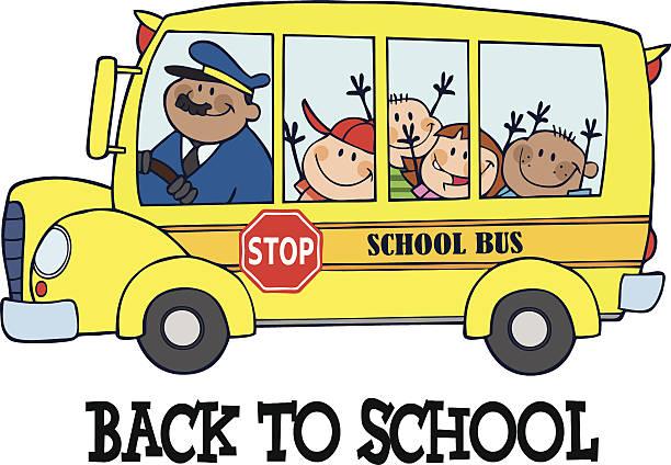 Best Clip Art Of Funny School Bus Illustrations, Royalty.