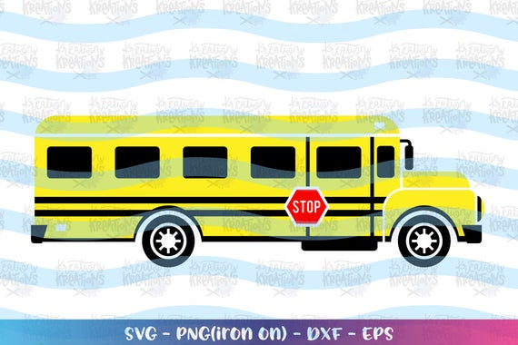 School Bus Clipart Yellow bus svg back to school svg school bus svg iron on  cut file Cricut Silhouete Instant Download vector SVG png dxf.