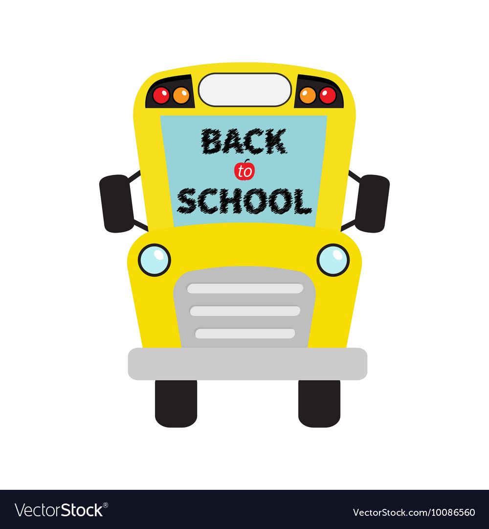Back to school Yellow school bus kids Cartoon.