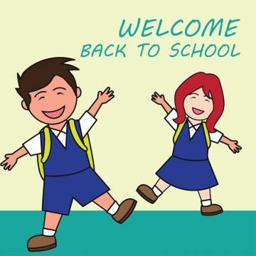 Welcome Back To School Cartoon Concept Vector Illustration.