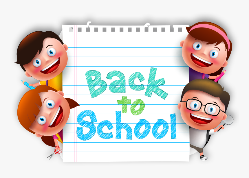 Back To School Kids Png Transparent Image.