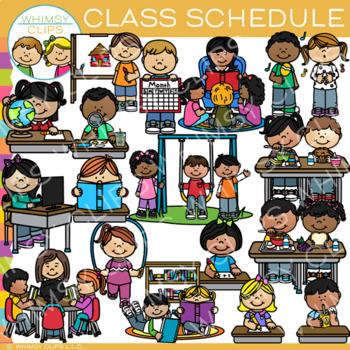 Class Schedule Clip Art {Whimsy Clips School Clip Art}.