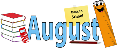 August School Clipart For Kids.