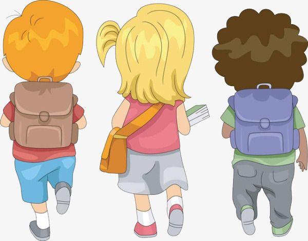 Children Back To School, Children Clipart, School Clipart.