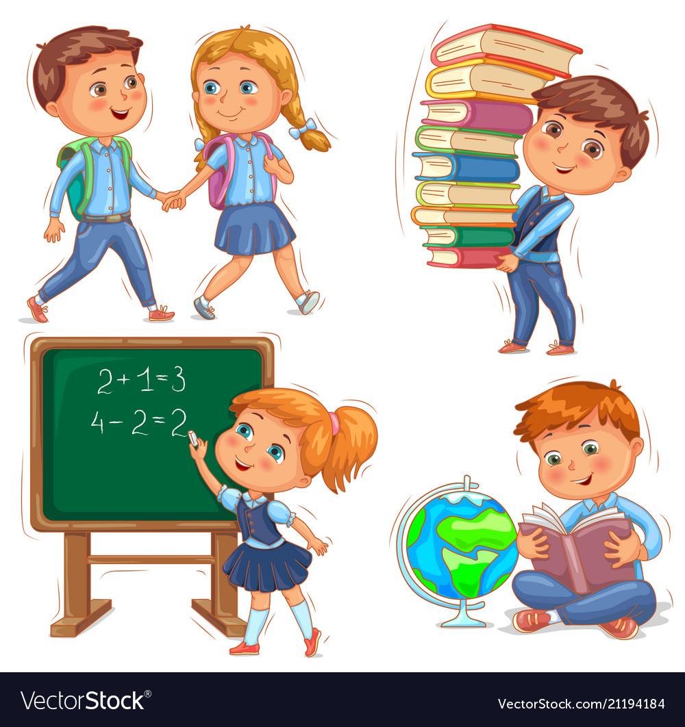 Back to school cute kids set.