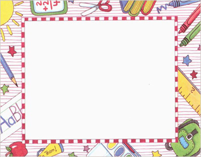 back to school clipart borders and frames #14