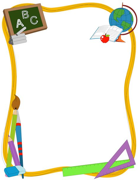 Back To School Clipart Frames.