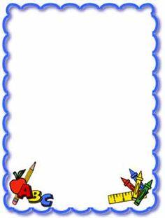 free school themed border paper.