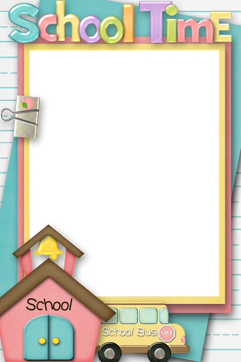 free school themed border paper.
