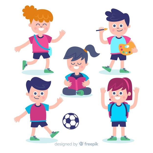 Hand drawn children back to school collection Vector.