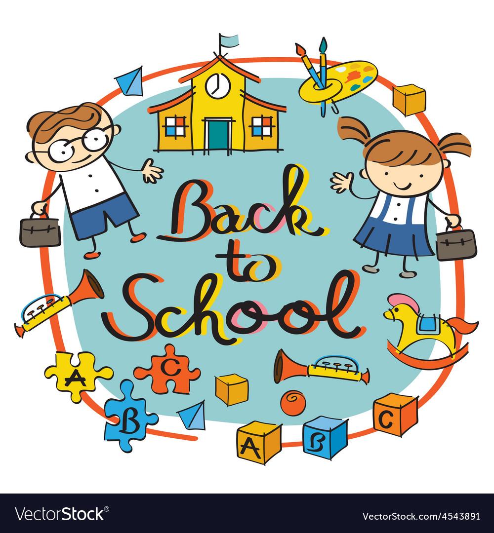 Kids Student back to School Heading.