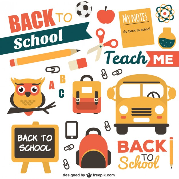 Back to School Pack Free Vector.