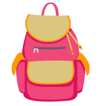 Bag Pack For Girls Back To School Clipart » Clipart Station.