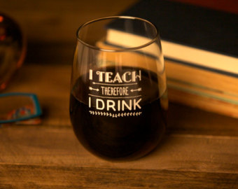 Back to school clipart teachers wine.