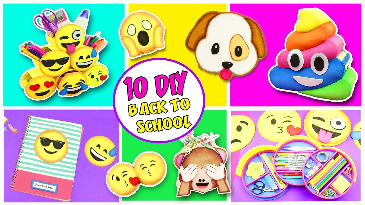 10 DIY EMOJIS SCHOOL SUPPLIES.