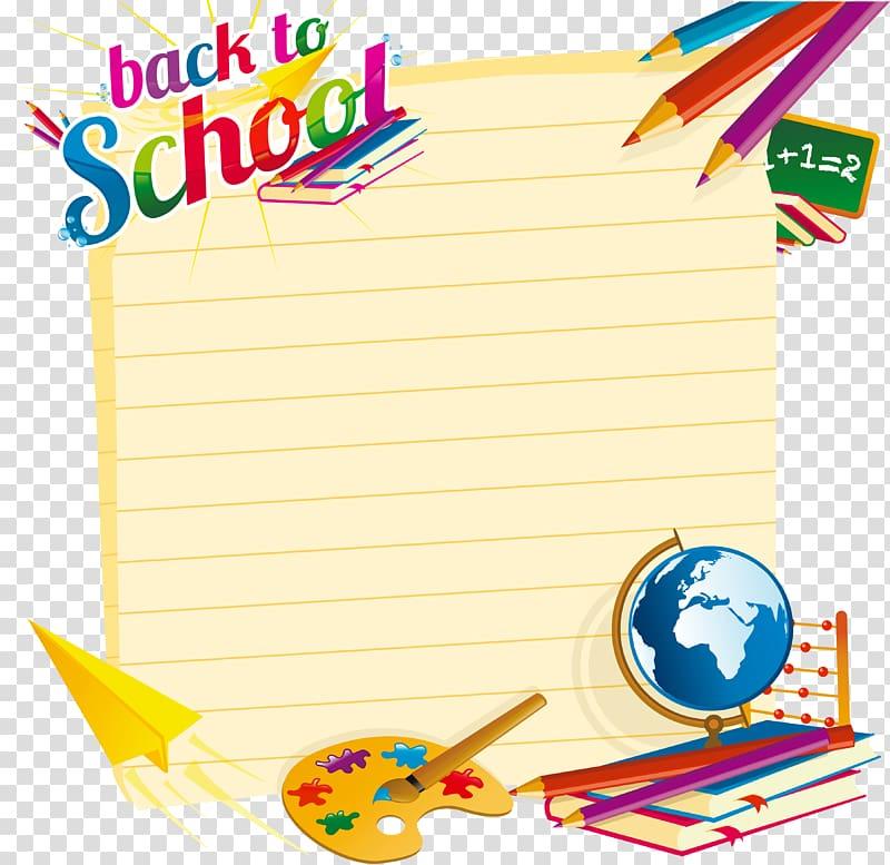 Back to school illustration, School Euclidean illustration.