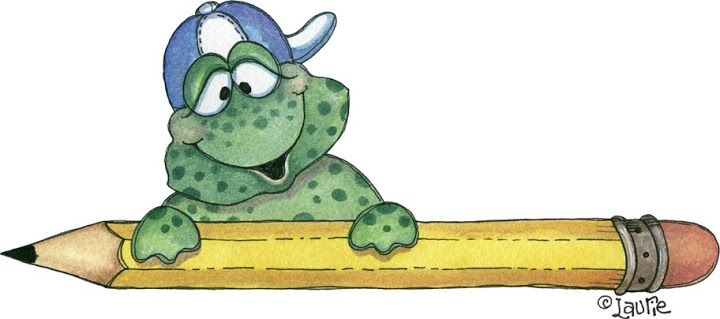 School Frog Clip Art.
