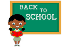 back to school girl clipart #2
