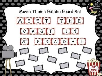 Bulletin Board Set: Movie Theme 2 Back To School Set EDITABLE.