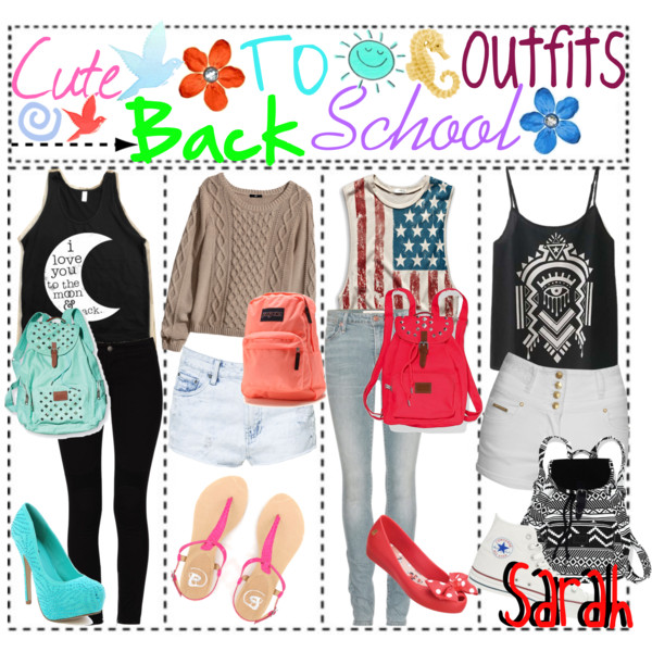 Back to school outfits.